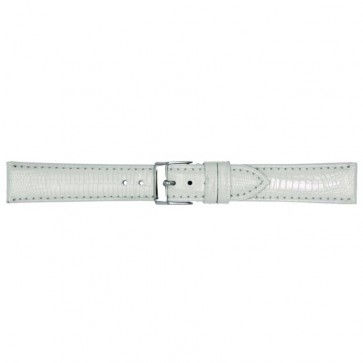 Wit lederen horlogeband 18mm PVK-564