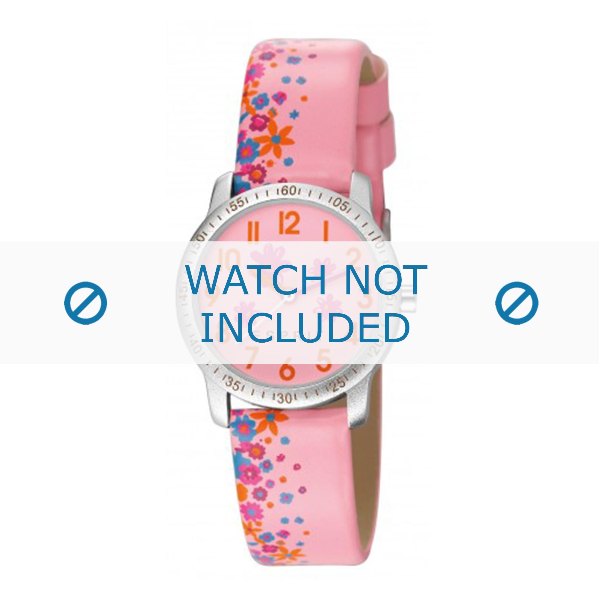 Esprit horlogeband ES103524 / ES103524-40RZ Leder Roze
