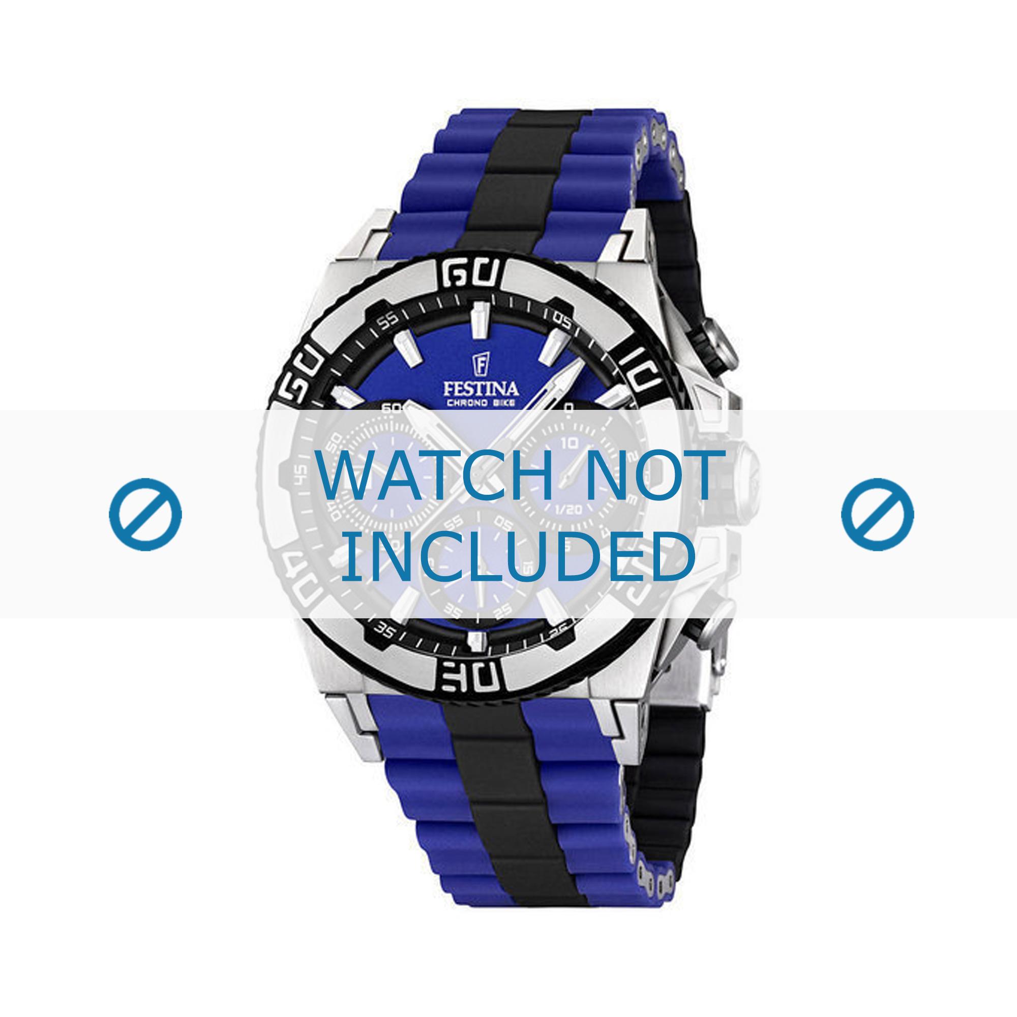 Festina horlogeband F16659/6 Staal Blauw 24mm