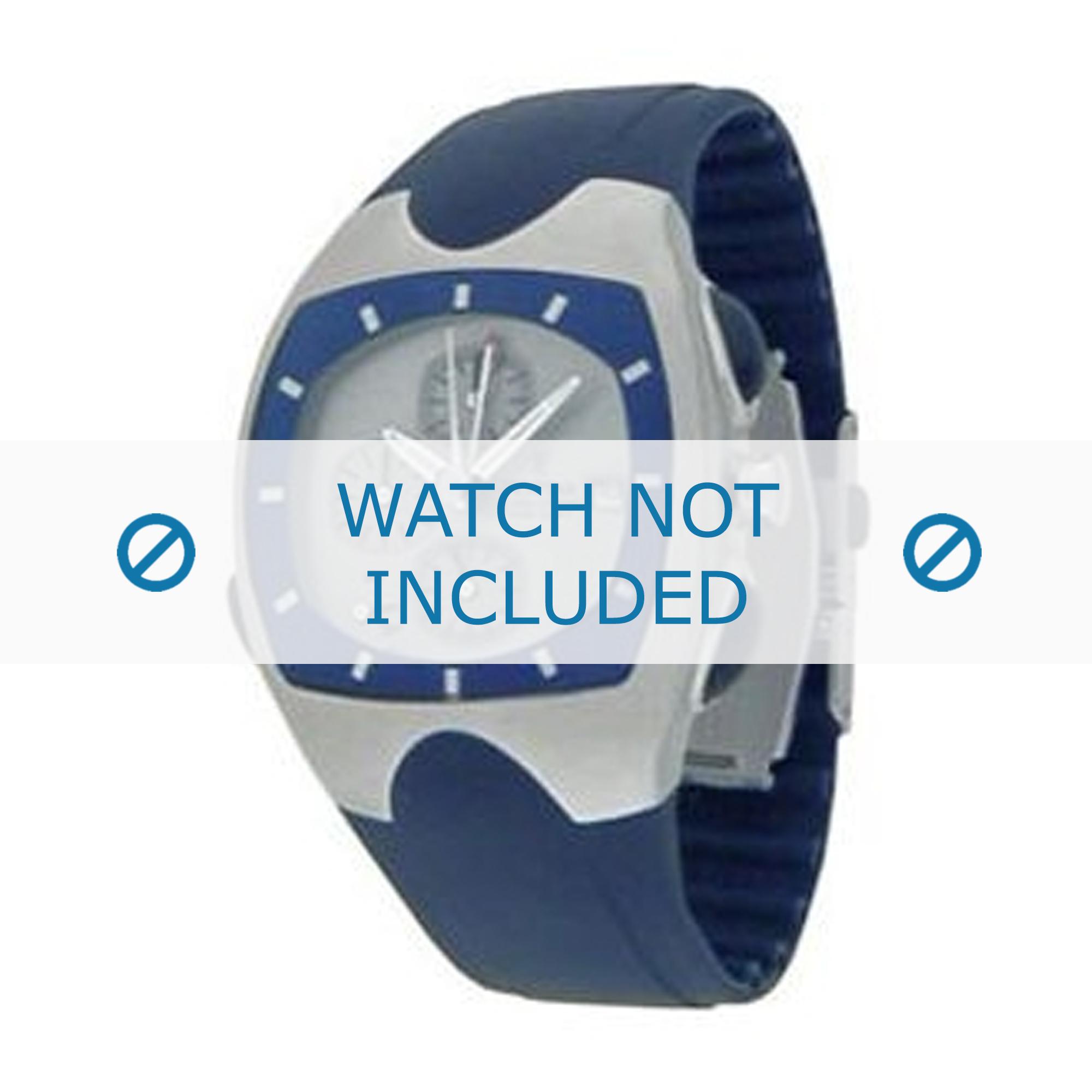Festina horlogeband F16044.1 / F16044.2 / F16044.5 / F16044.6 Rubber Blauw 18mm