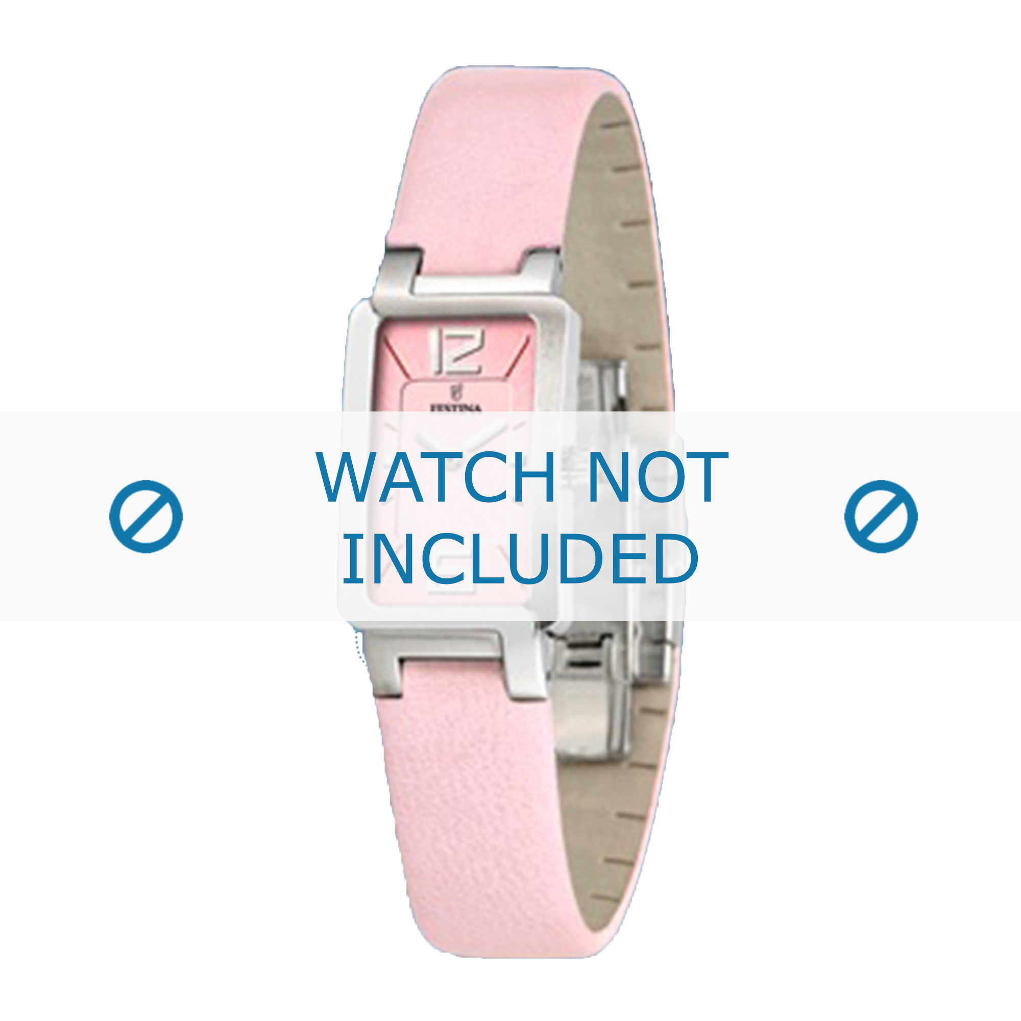 Festina horlogeband F16218-2 / F16218-C Leder Roze