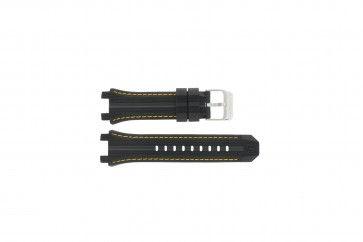 Festina horlogeband F16350/4 Rubber Zwart 23mm + geel stiksel
