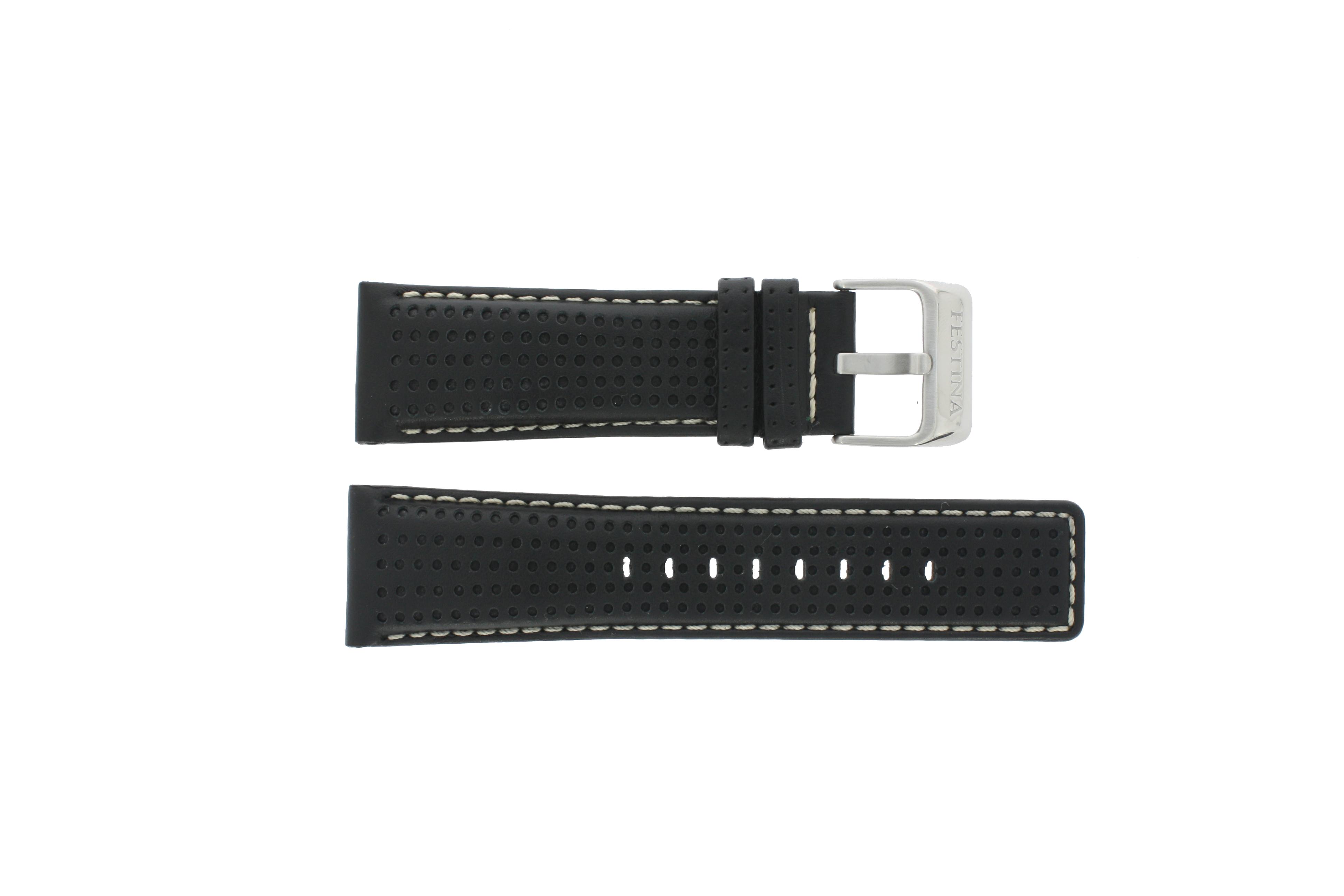Festina horlogeband F16363 Leder Zwart 26mm