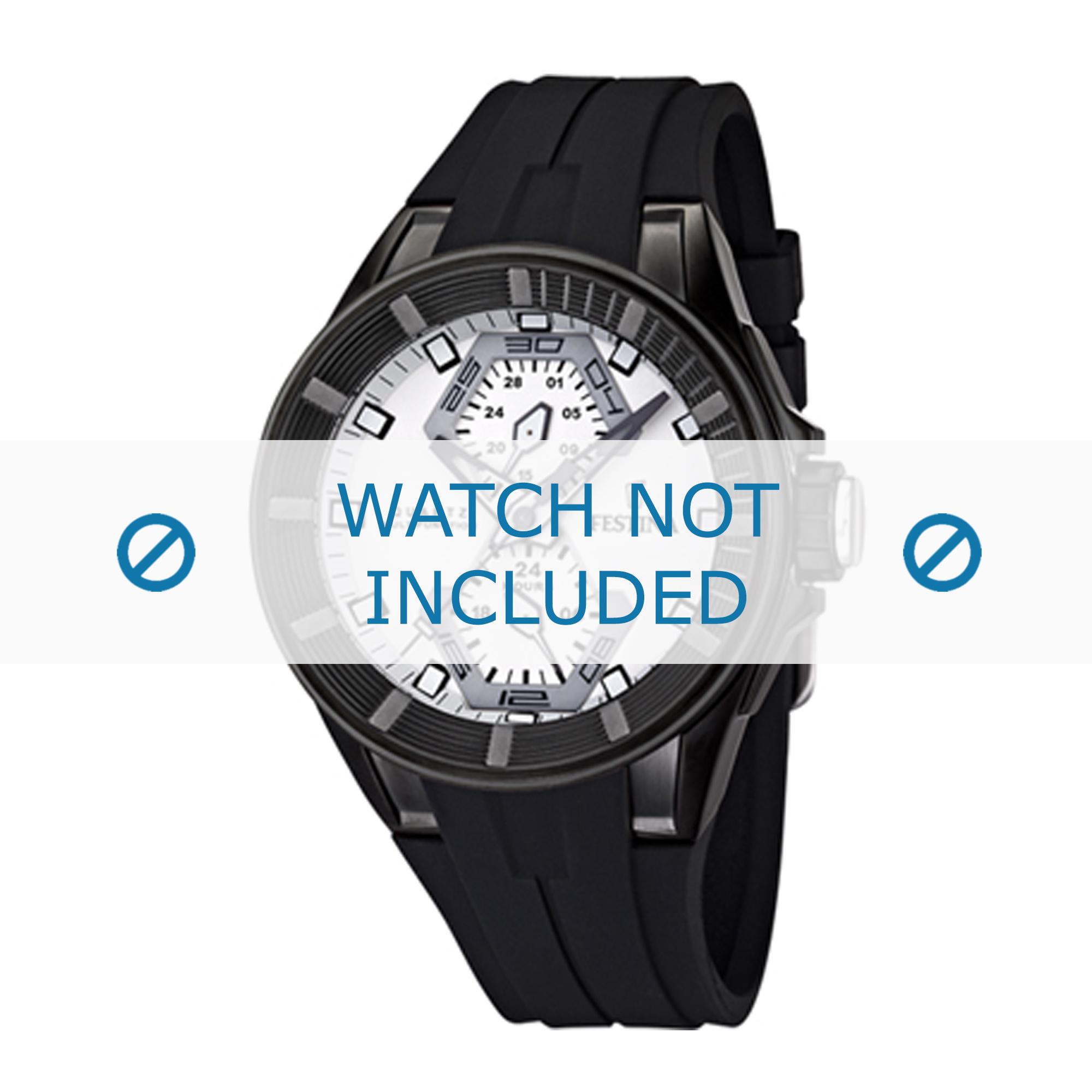Festina horlogeband F16612/2 Rubber Bruin 18mm