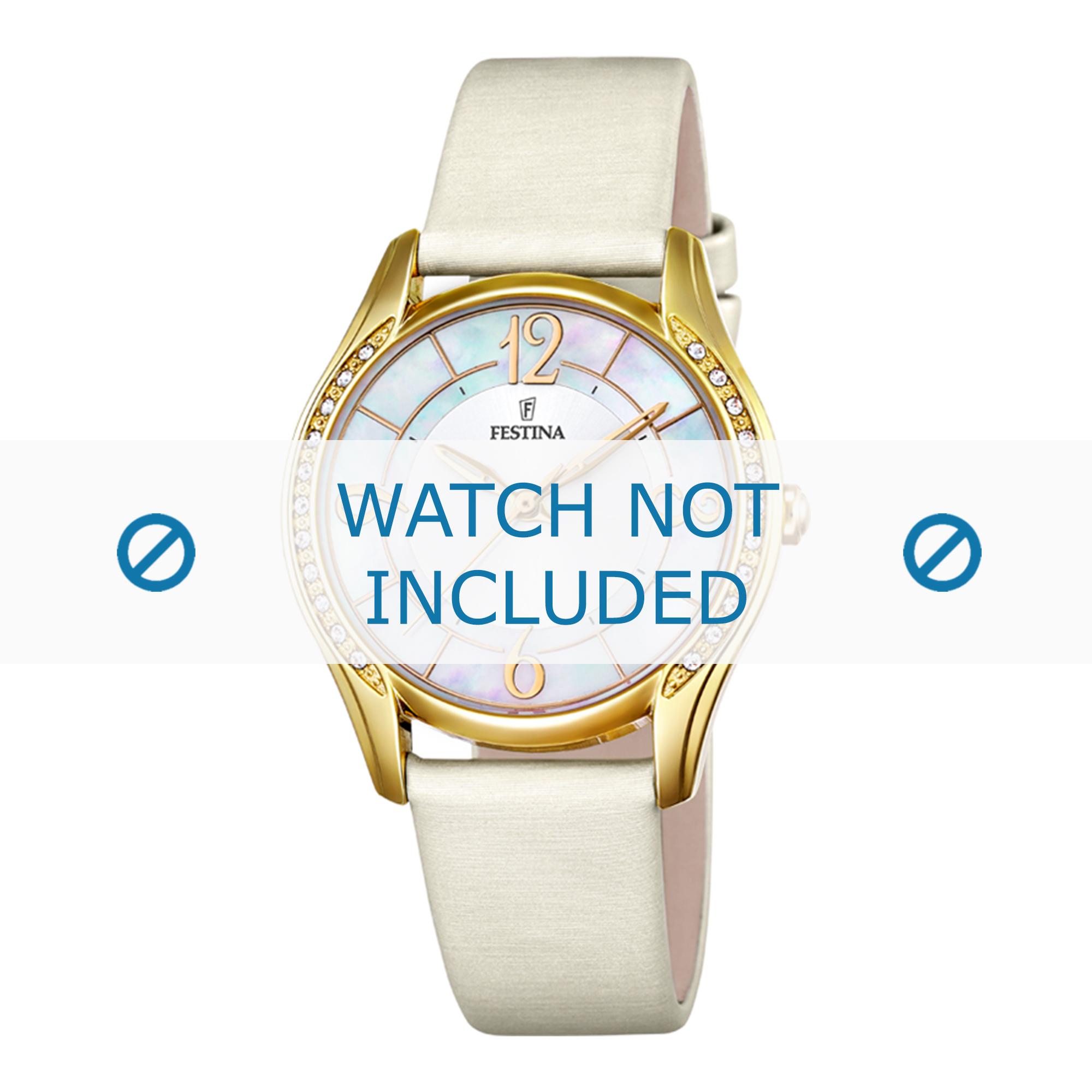 Festina horlogeband F16945-1 Leder Cream wit / Beige / Ivoor 18mm