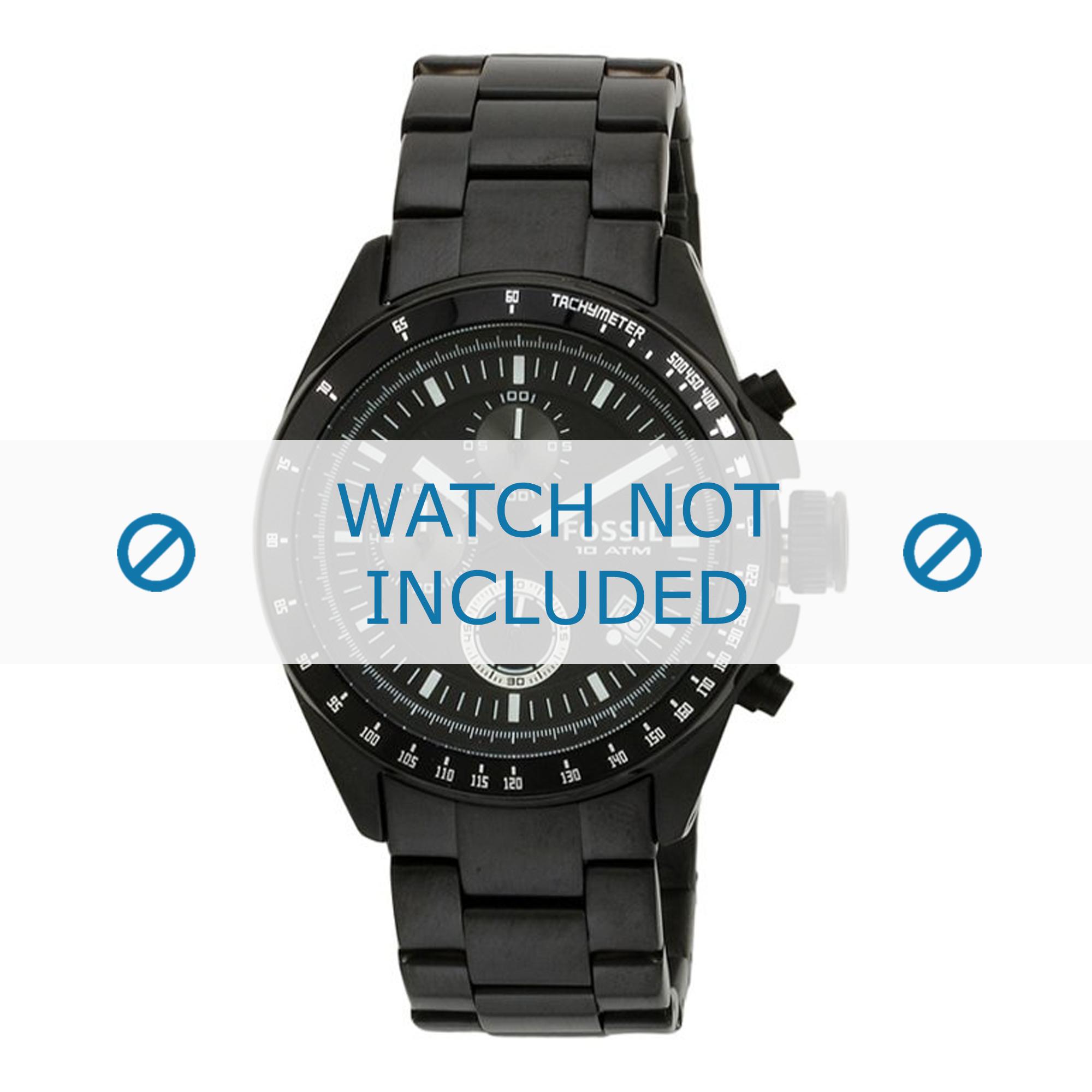 Fossil horlogeband CH2601 Staal Zwart 22mm