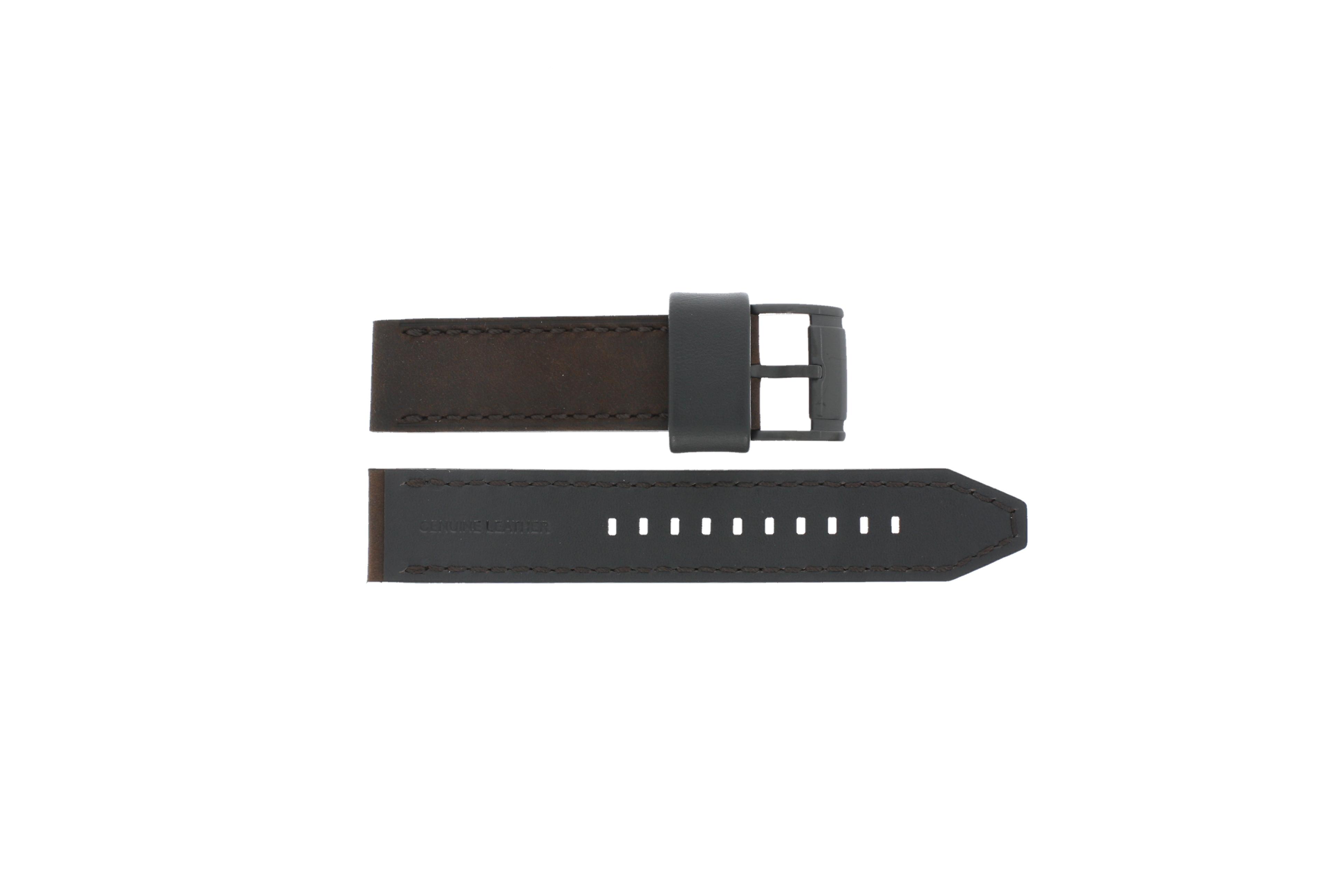 Fossil horlogeband CH2782 / FS4656 Leder Bruin 22mm + bruin stiksel