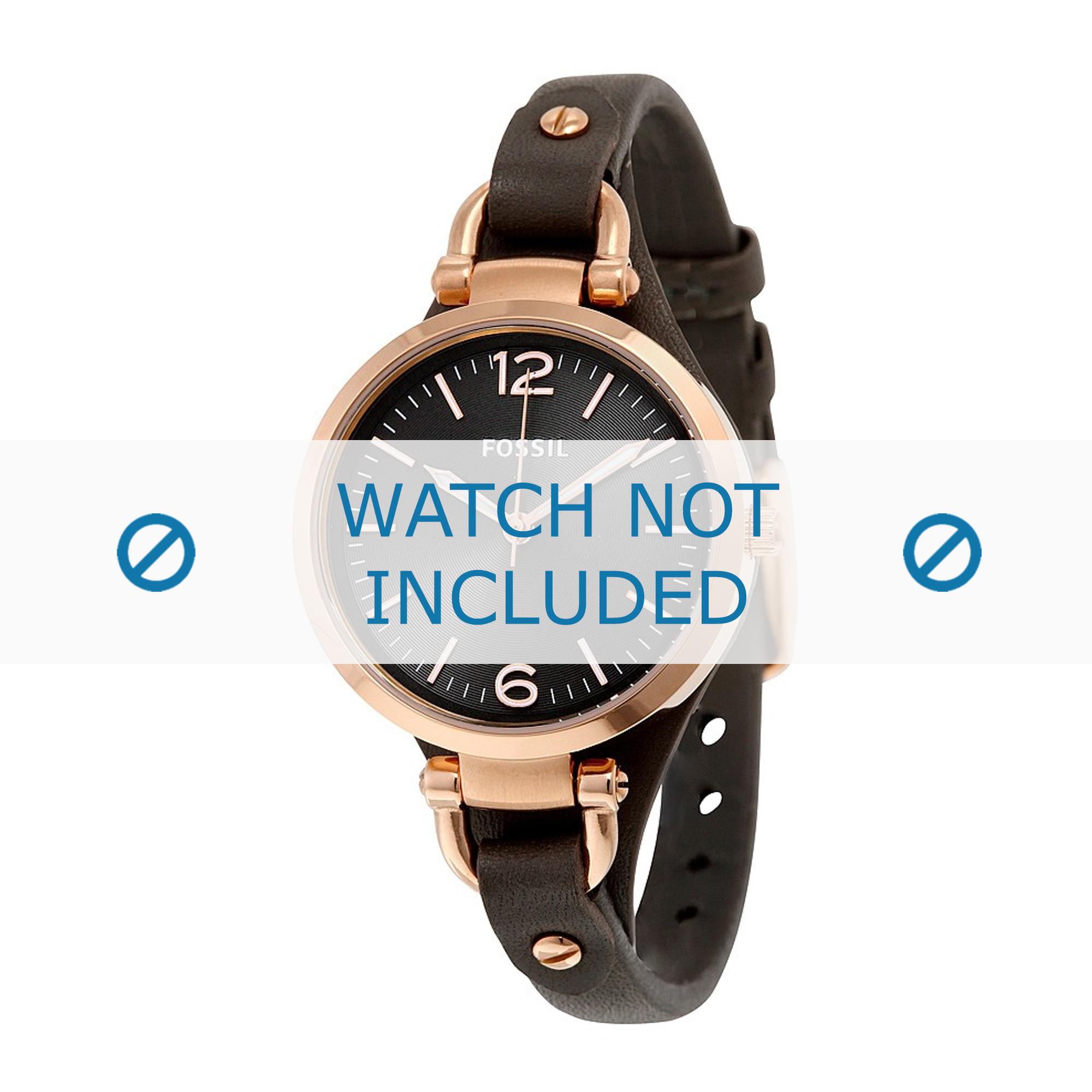Fossil horlogeband ES-3077 Leder Grijs 8mm