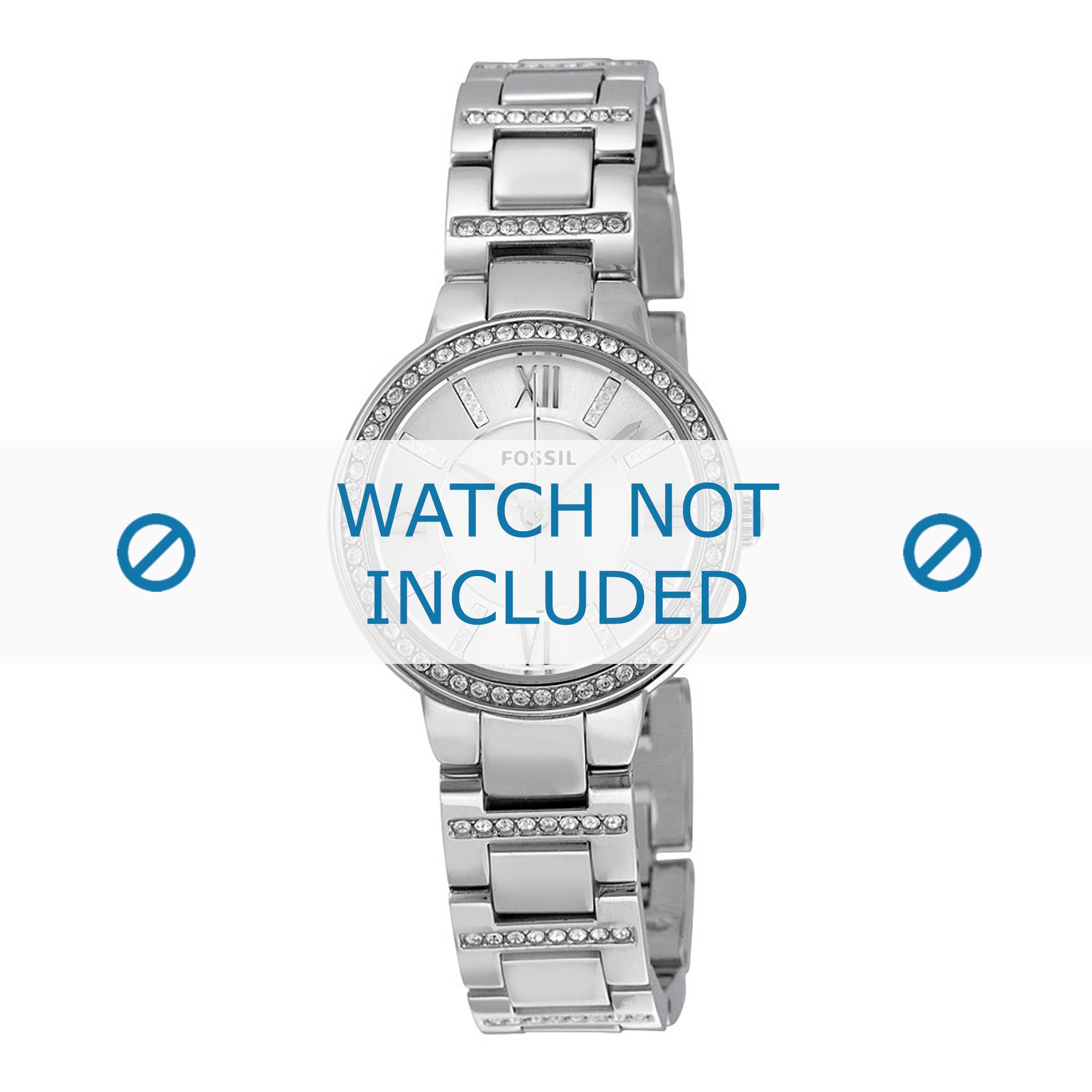 Fossil horlogeband ES-3282 Staal Zilver 8mm