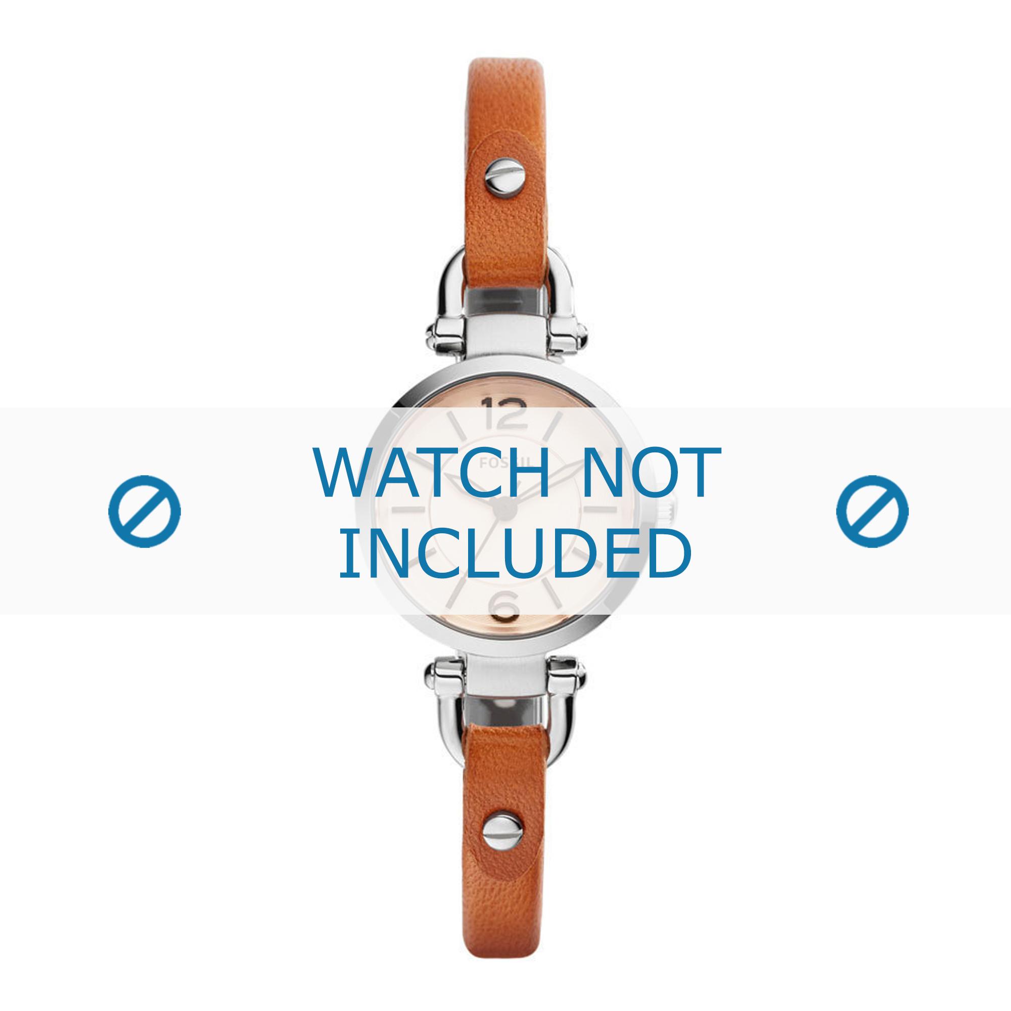Fossil horlogeband ES4025 Leder Cognac 8mm