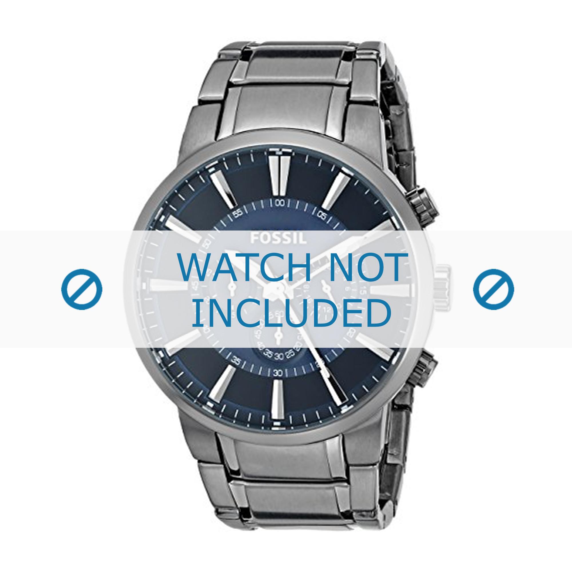 Fossil horlogeband FS4358 Staal Antracietgrijs