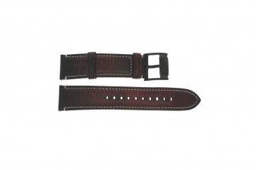 Fossil horlogeband FS-5088 Leder Donkerbruin 22mm