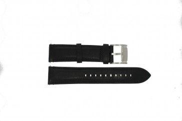 Fossil horlogeband ME-3104 / ME3101 Leder Zwart 22mm