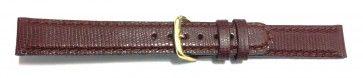 Bruine horloge band leder 16mm