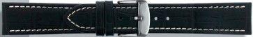 Buffalo kalf zwart met wit stiksel 18mm PVK-518XL