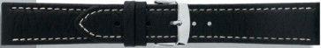 Buffalo kalf zwart met wit stiksel 22mm PVK-517XL / 307