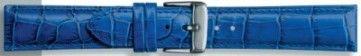 Horlogeband 285.05 Leder Blauw 18mm + blauw stiksel