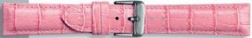 Echt leder kroko roze 20mm PVK-285