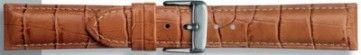 Echt leder kroko licht bruin 22mm PVK-285
