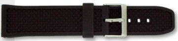 Horlogeband PU103 Rubber Zwart 24mm