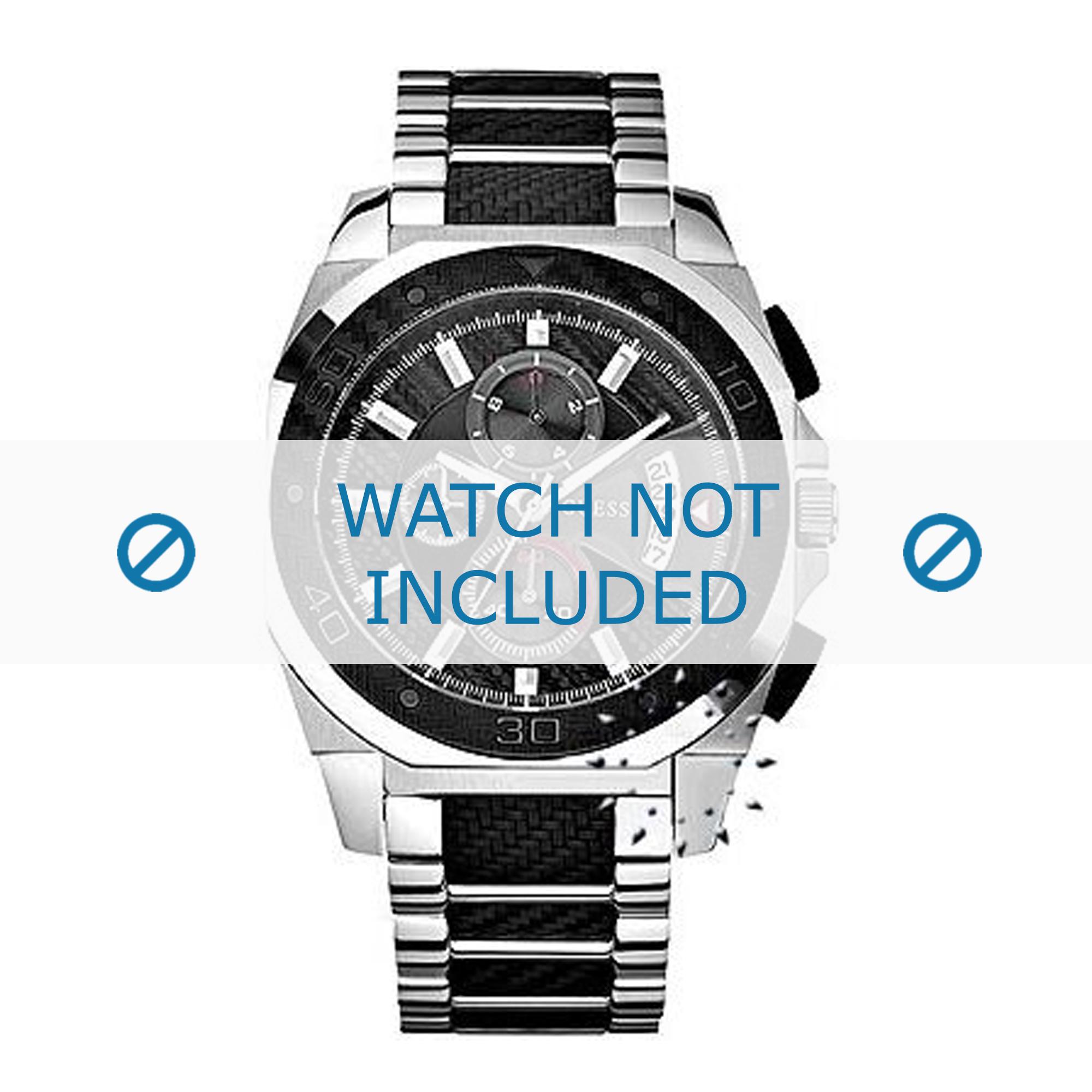 Guess horlogeband 22513G1 Staal Zilver 24mm
