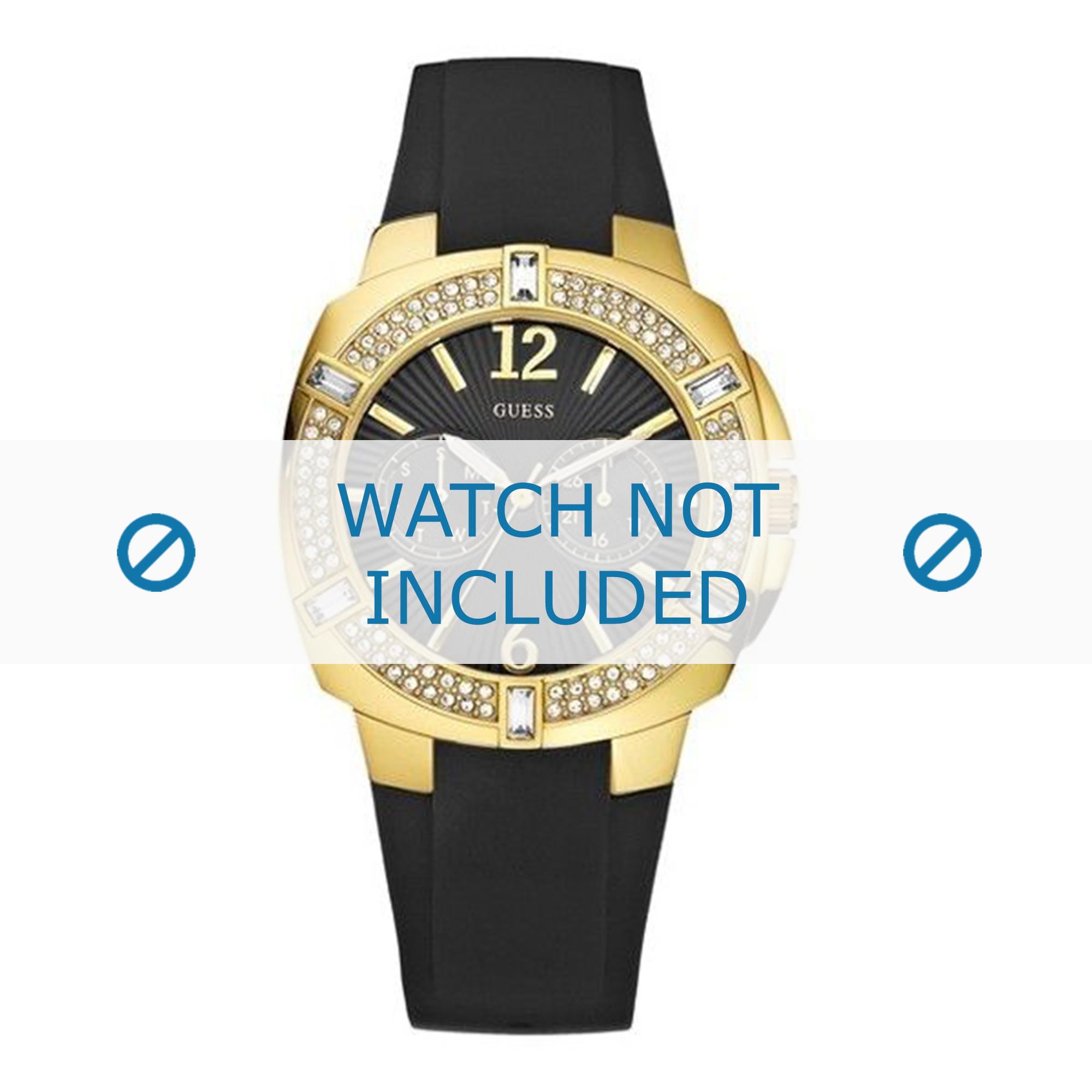 Guess horlogeband U11530L1 Rubber Zwart