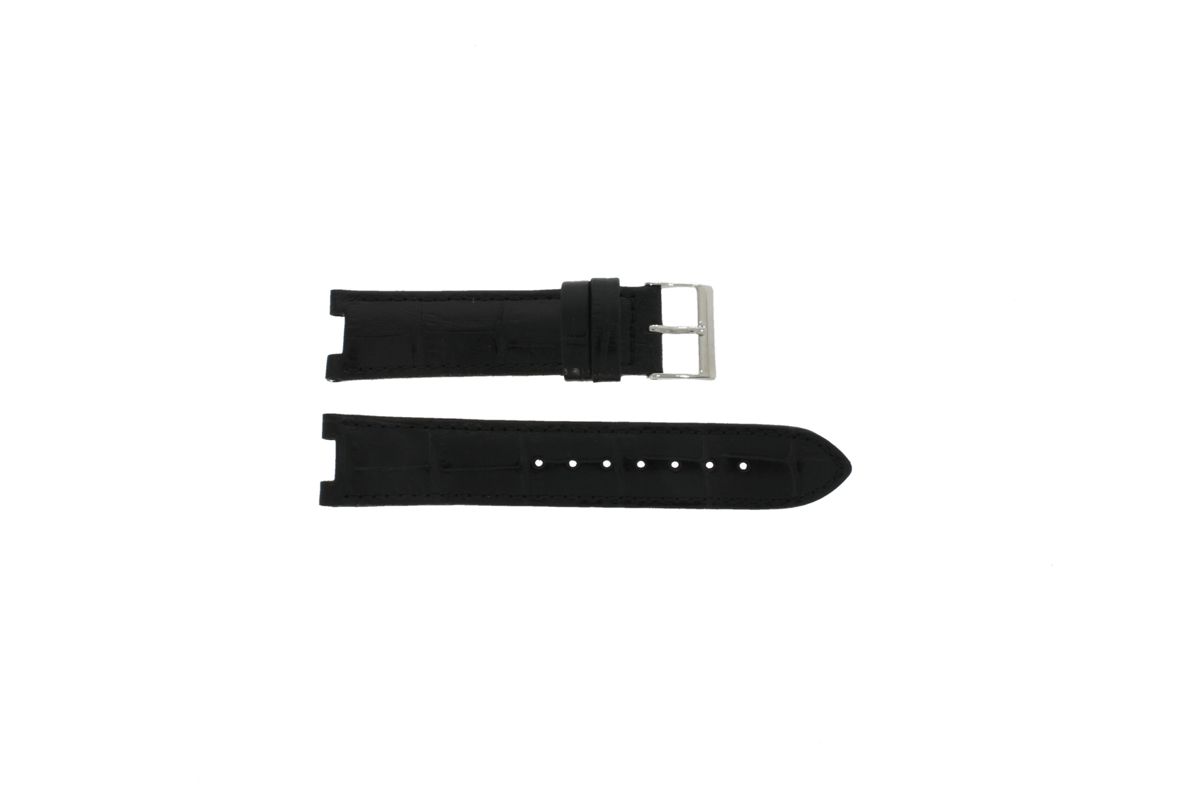 Guess horlogeband W11607L2 Leder Zwart 19mm