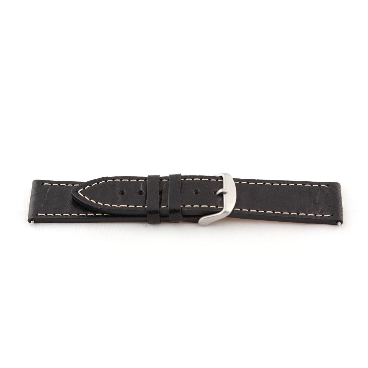 Echt leder zwart 24mm EX-H79