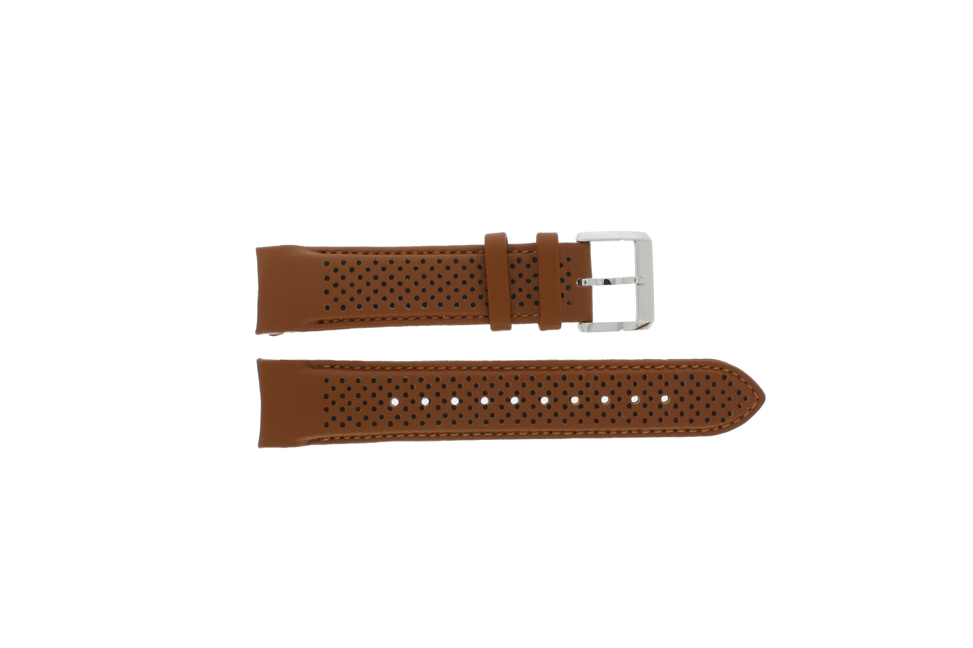 Hugo Boss horlogeband HB-188-1-14-2672 / HB1513118 Leder Cognac 22mm + bruin stiksel