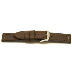 Echt leder horlogeband bruin 24mm / I302