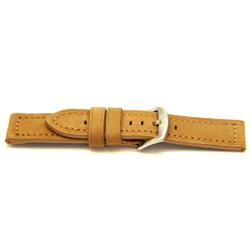 Echt leder horlogeband licht bruin 22mm / H391