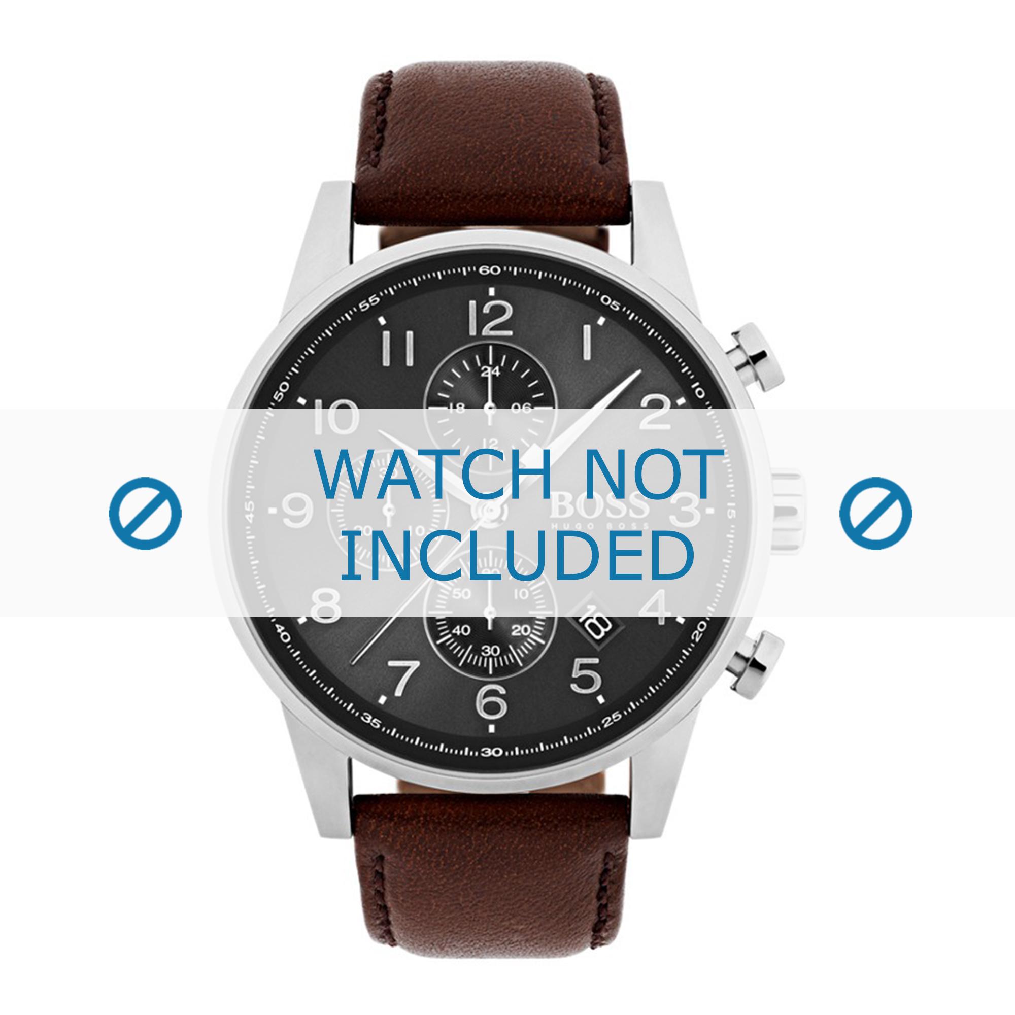 Hugo Boss horlogeband HB1513494 / HB1513495 Leder Bruin + bruin stiksel