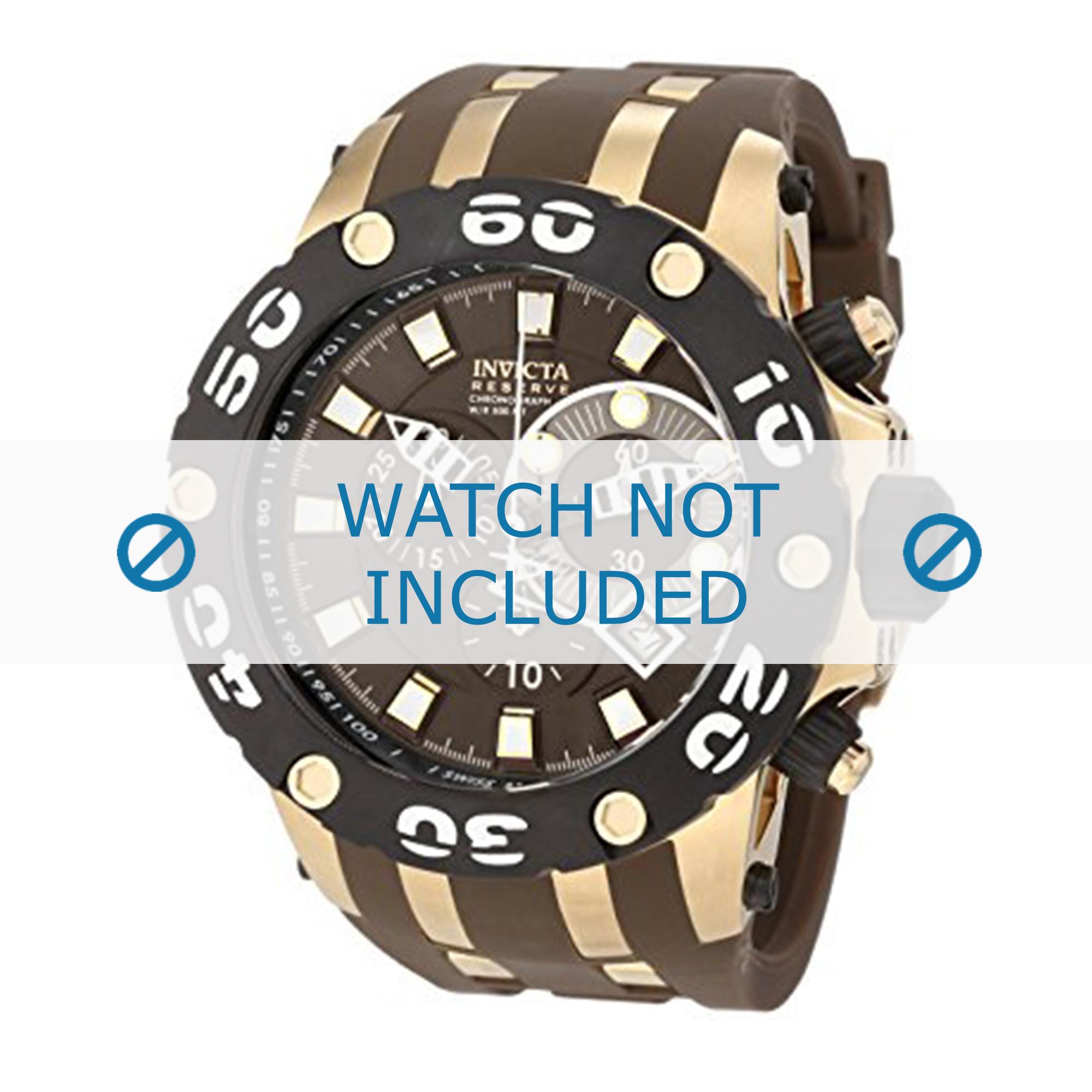Invicta horlogeband 0916 Subaqua Rubber Bruin 32mm