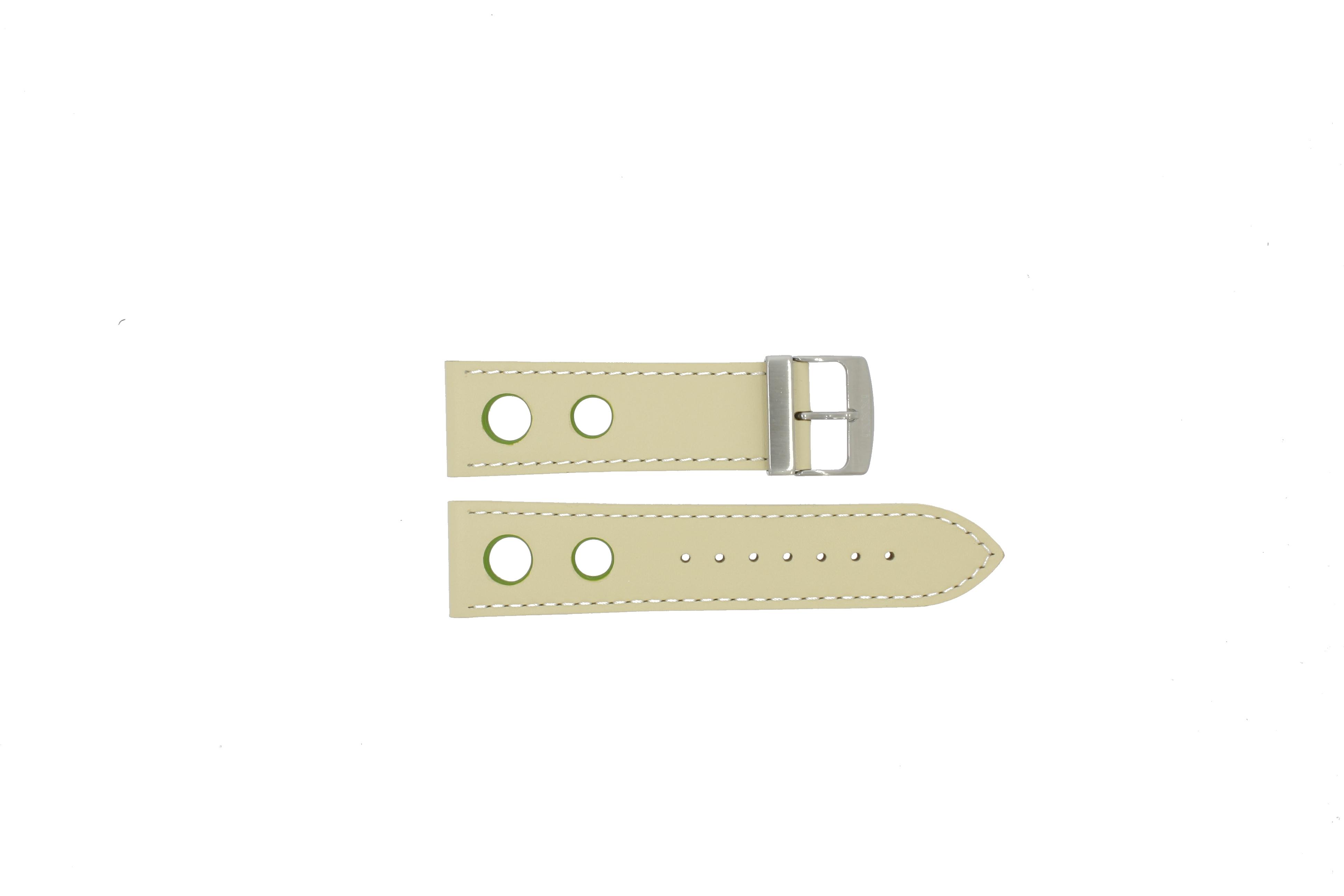 Ixxxi horlogeband IWHER3 Leder Cream wit 24mm