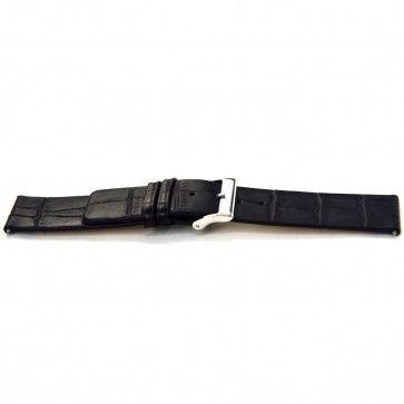 Buffalo kalf horlogeband zwart 20mm J-53