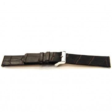 Buffalo kalf horlogeband donker bruin 24mm J-53