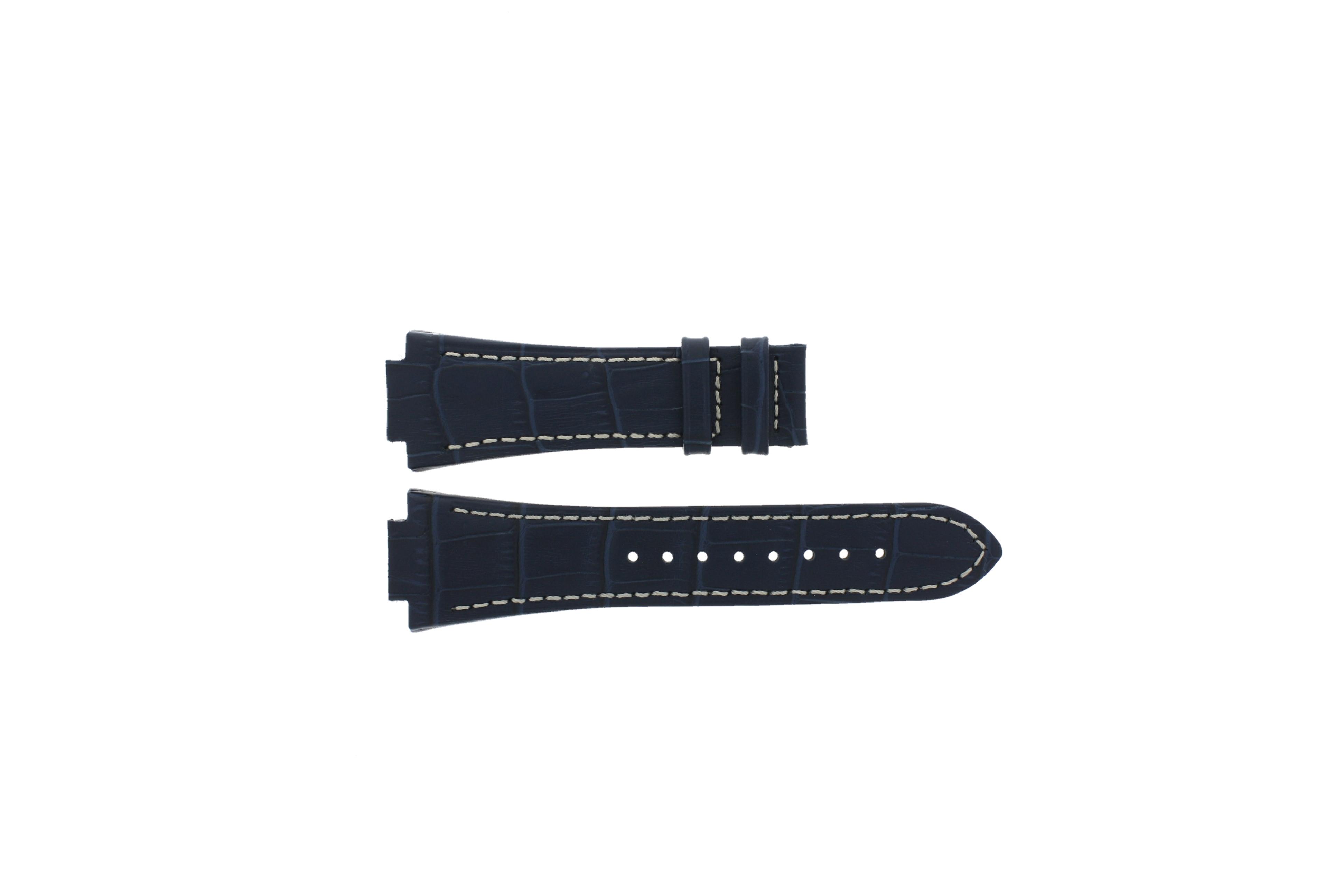 Jaguar horlogeband J625/2 Leder Blauw 16mm + wit stiksel