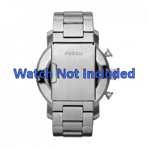Fossil horlogeband JR1353 Staal Zilver 24mm
