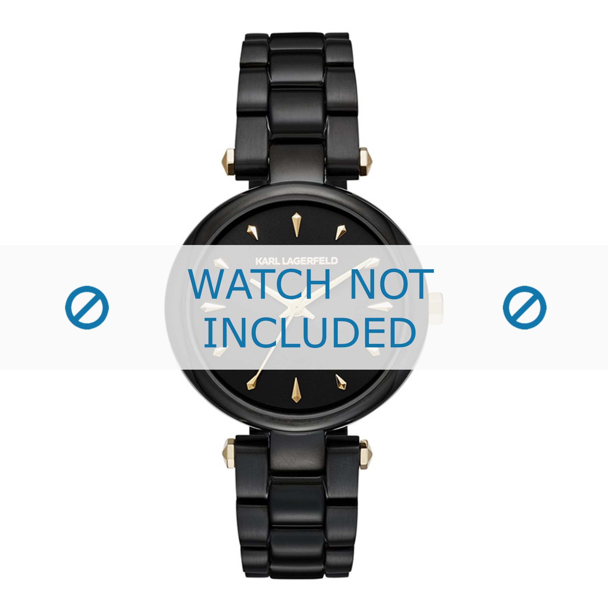 Karl Lagerfeld horlogeband KL5003 Staal Zwart
