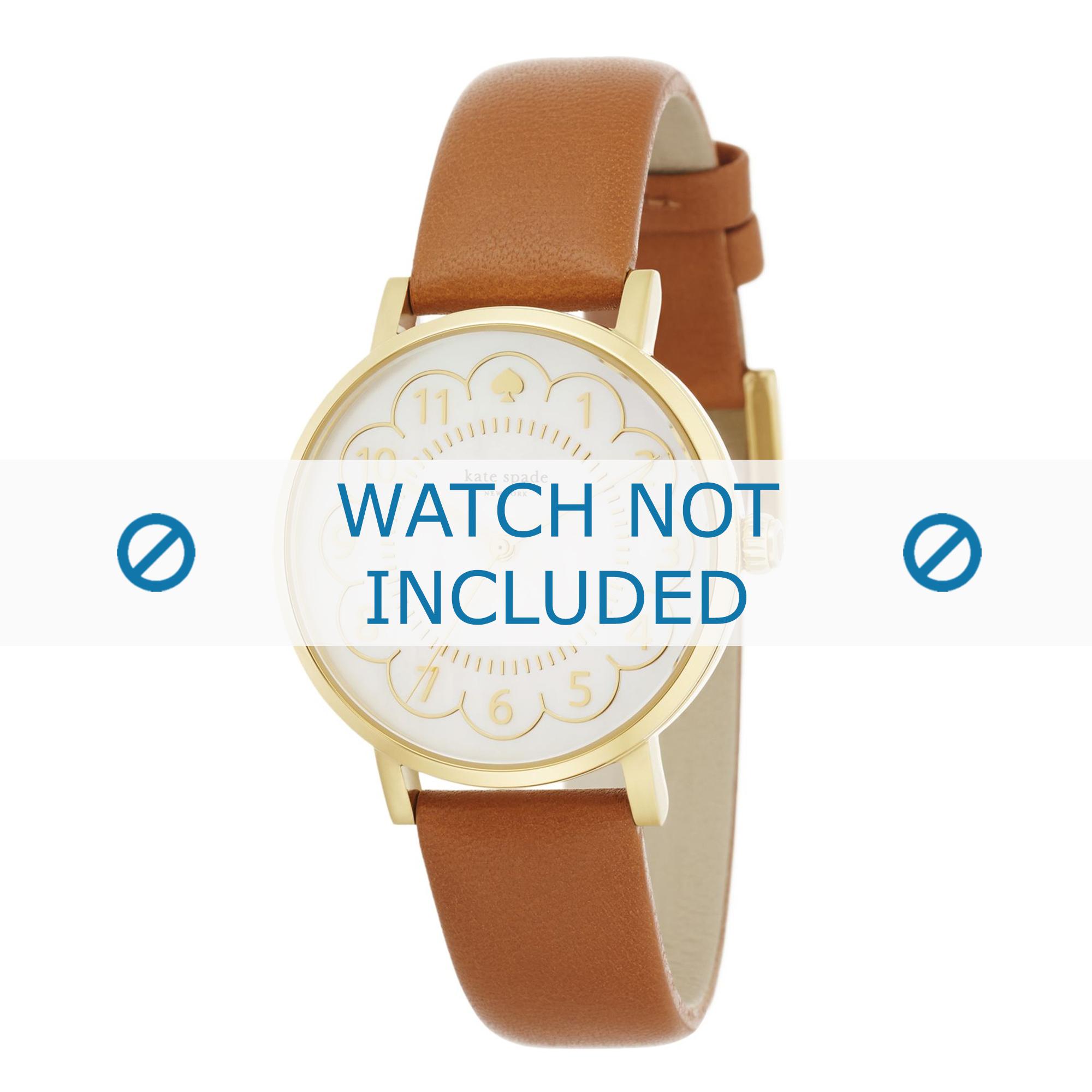 Kate Spade New York horlogeband 1YRU0835 / METRO Leder Cognac