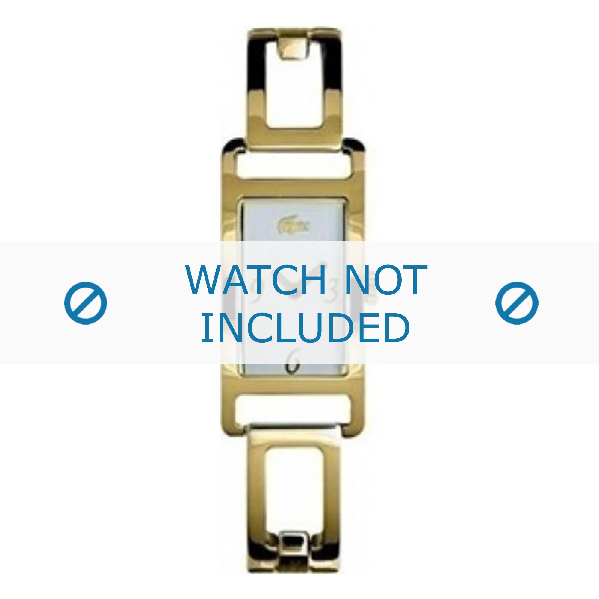 Lacoste horlogeband LC-05-3-21-0008 / Staal Goud