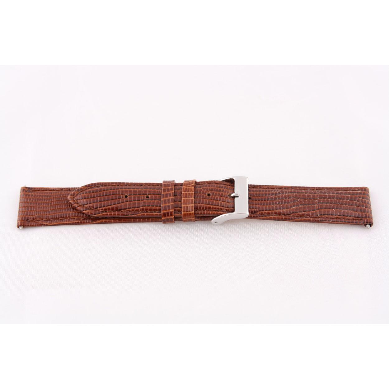 Echt lederen horloge band lizard croco bruin 16mm EX-G62