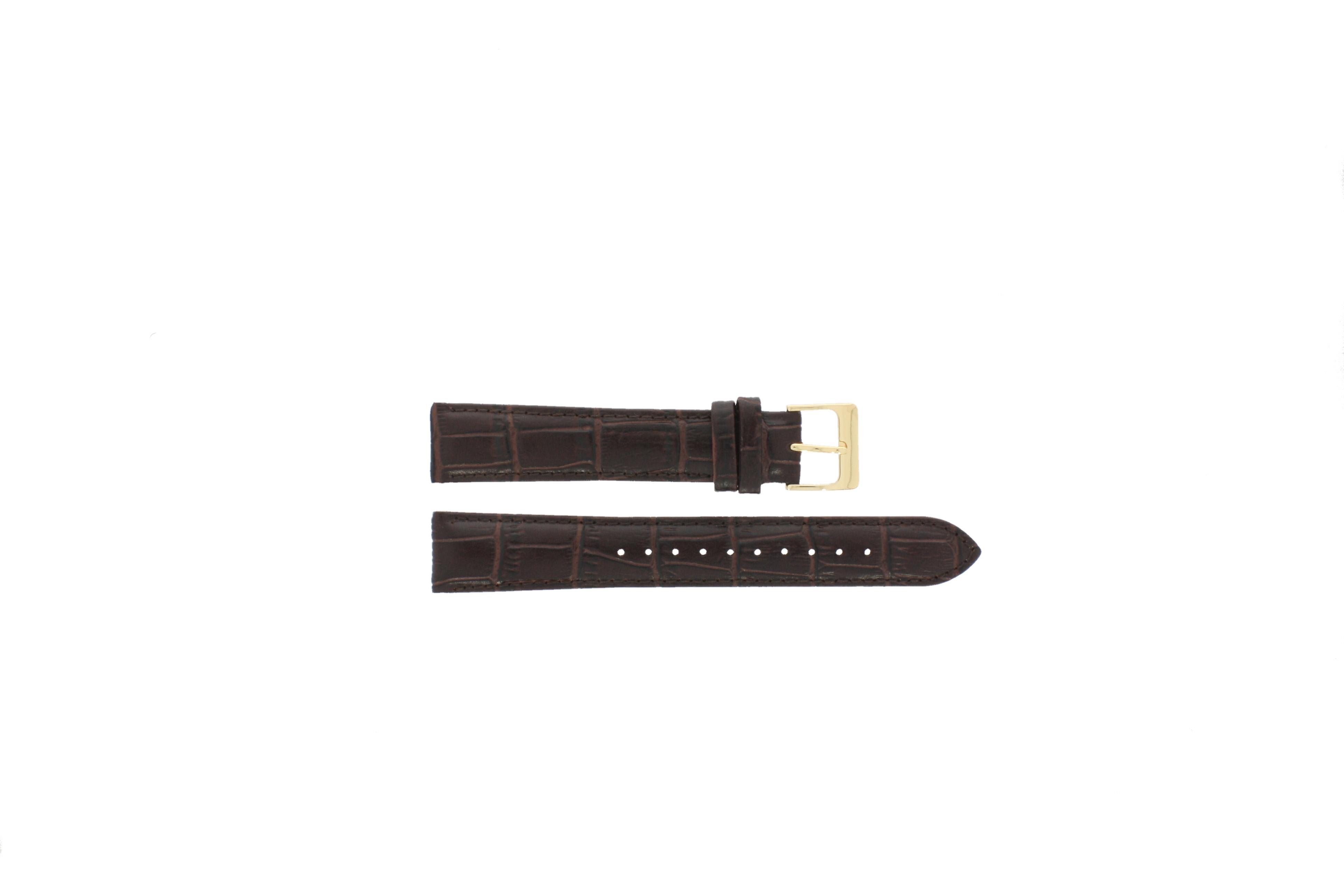 Lorus horlogeband VX32-X383 Leder Bruin 18mm