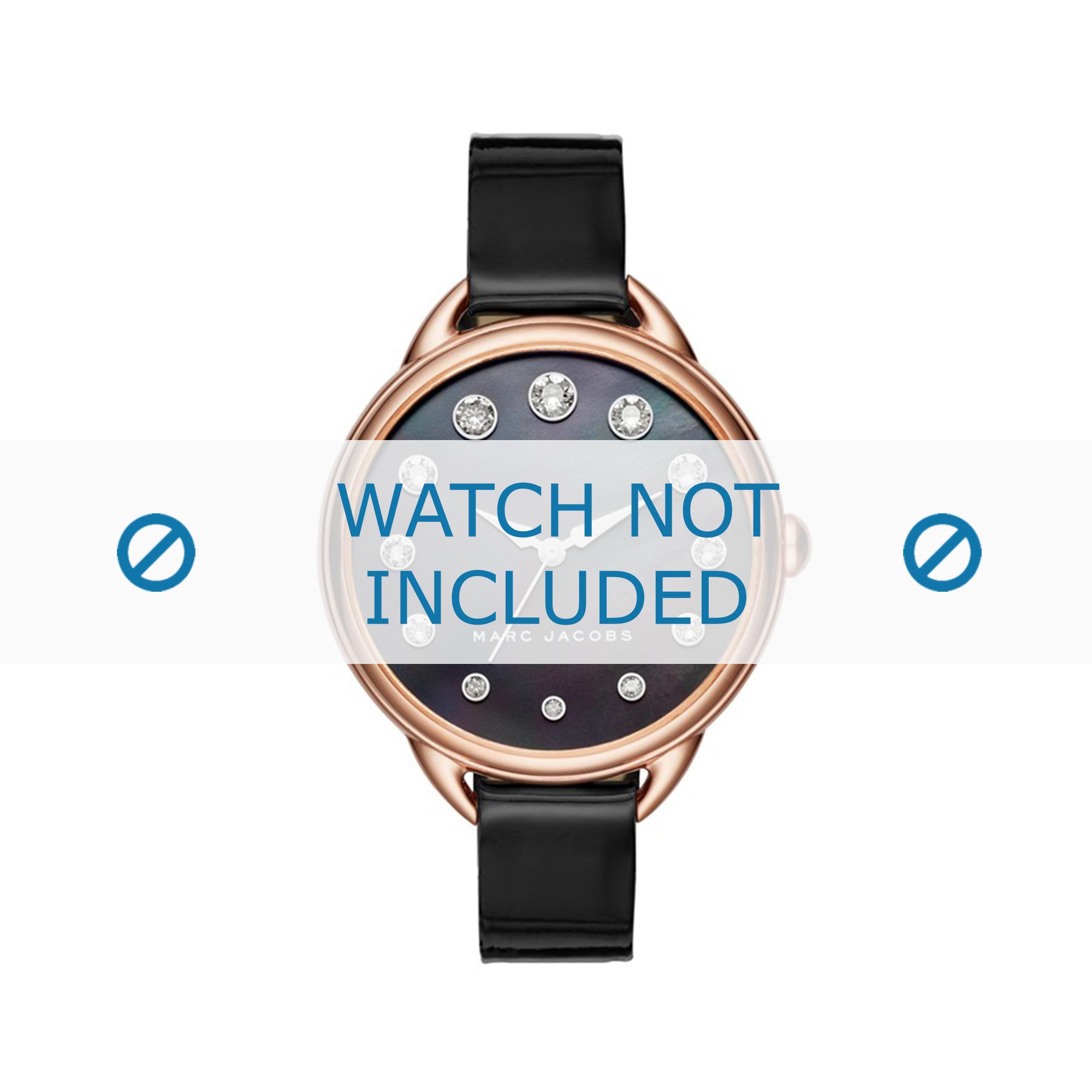 Marc by Marc Jacobs horlogeband MJ1511 Leder Zwart 12mm