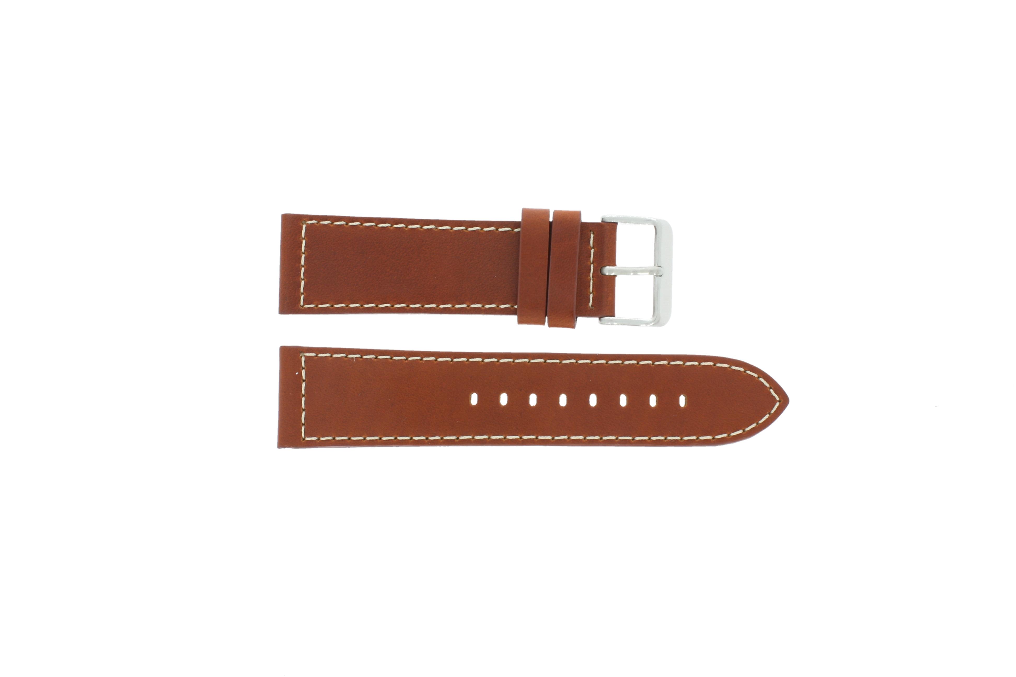 Max horlogeband Leder Bruin 24mm