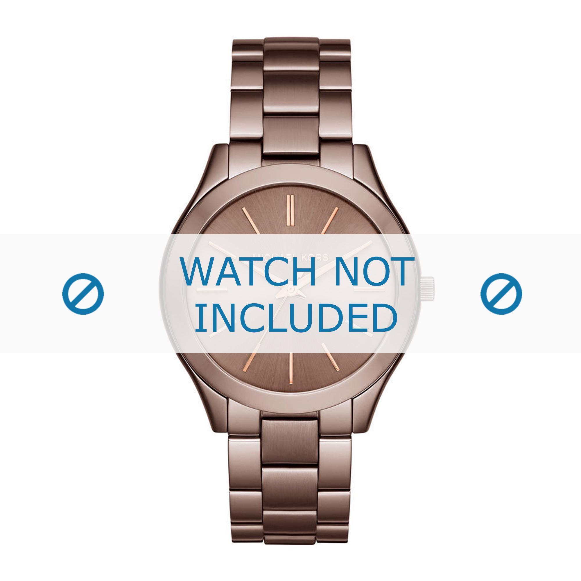 Michael Kors horlogeband MK3418 Staal Bruin 20mm