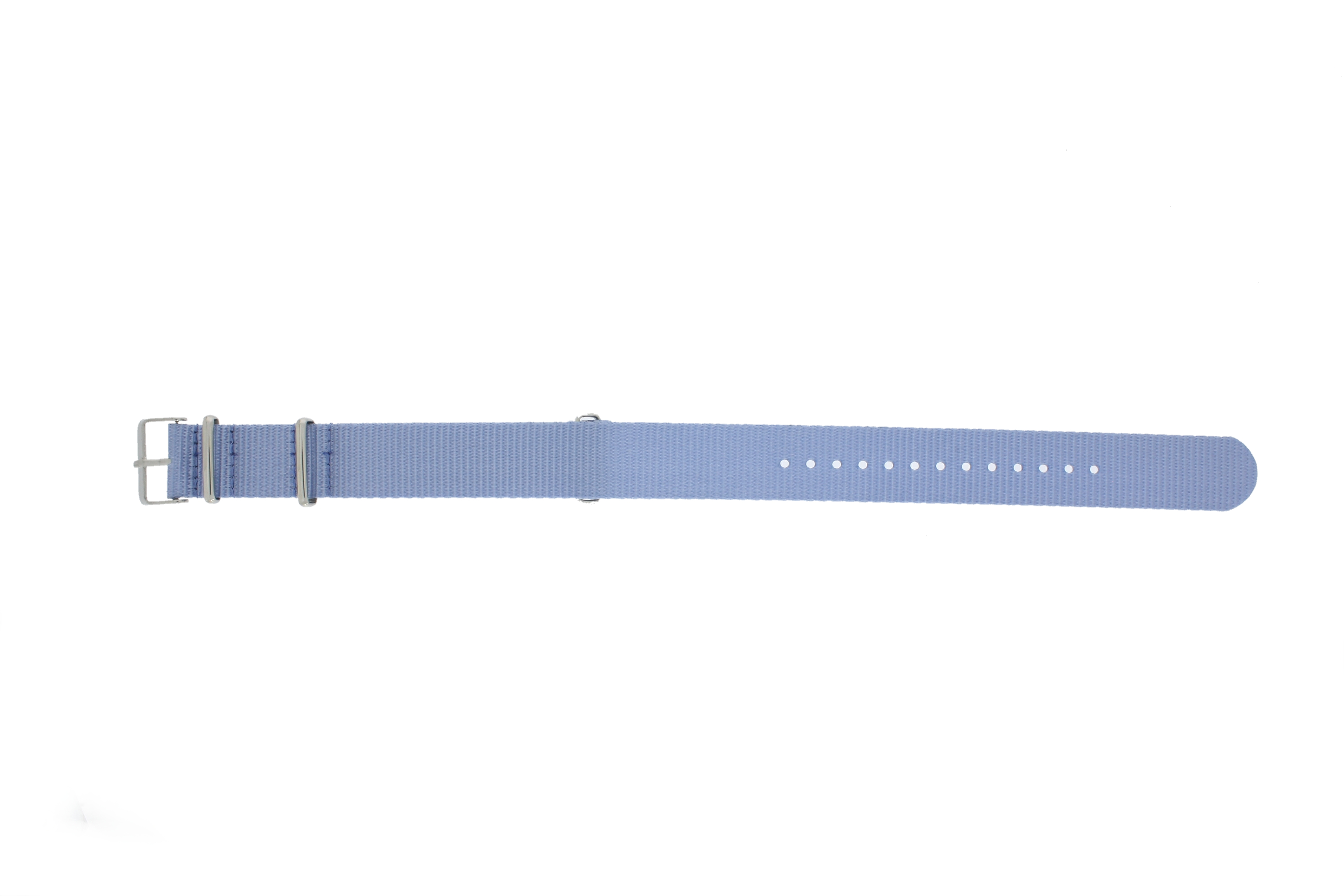 Horlogeband Textiel 22mm Lichtblauw MD 1036