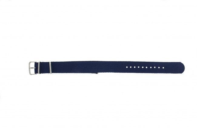 Horlogeband Textiel 20mm Blauw RO -6