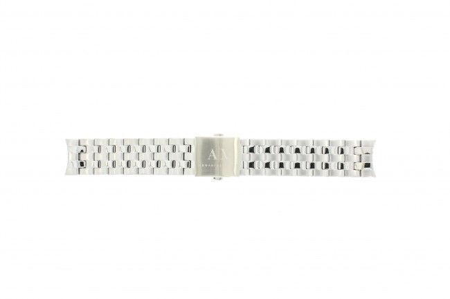 Armani horlogeband AX-2158 Staal Zilver 22mm