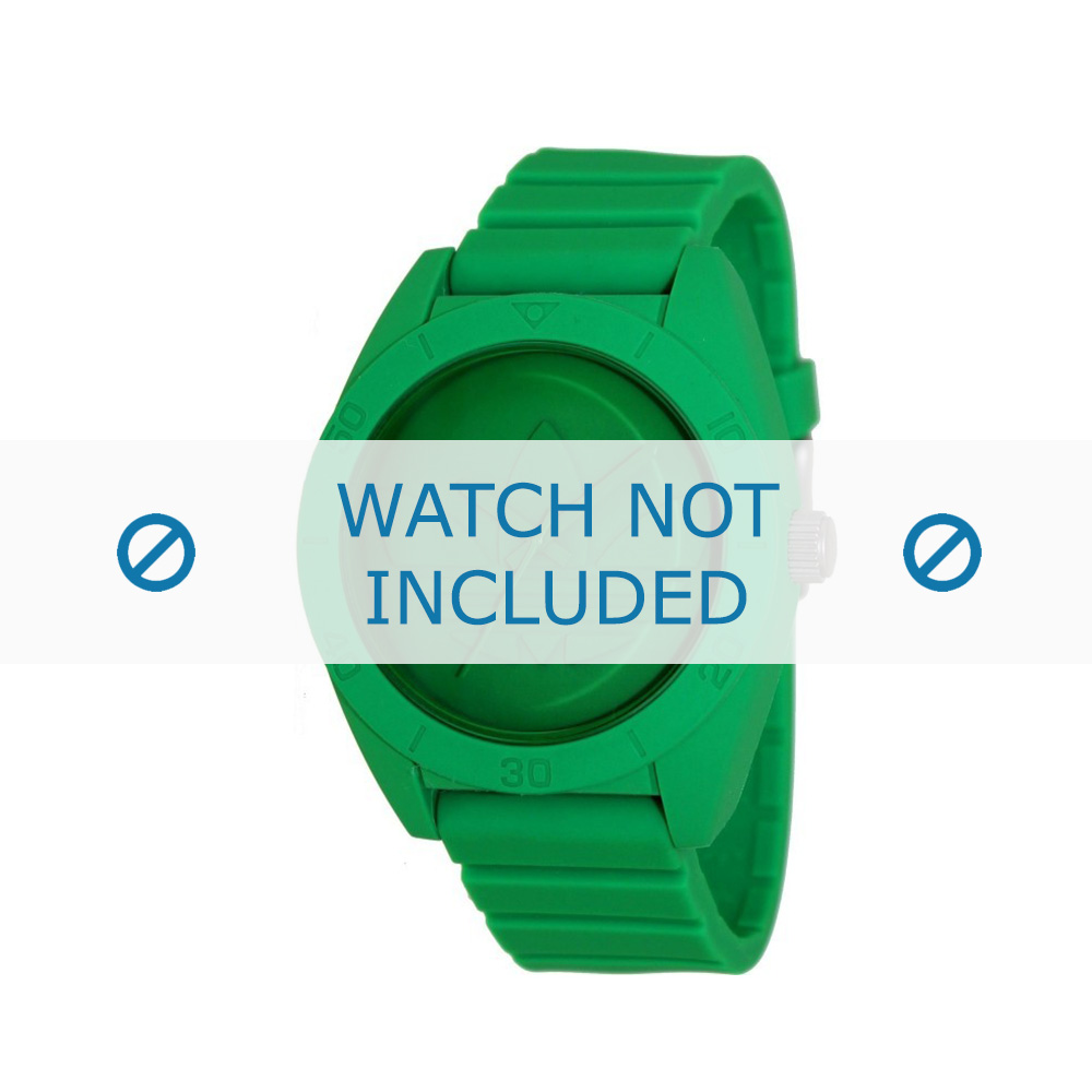 Adidas horlogeband ADH2788 Kunststof Groen 24mm